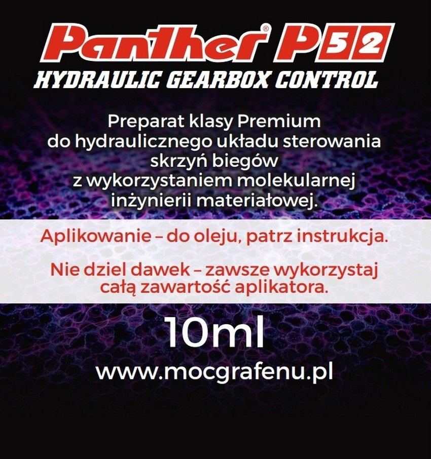 nanotechnologia panther P52 Hydraulic Gearbox Control